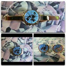 United Nations Lapel / Cuff Links / Tie Bar Gift Set UN (blue)