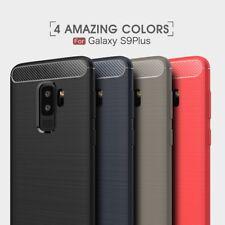 Housse etui coque silicone gel carbone Samsung Galaxy S9+ Plus + verre trempe