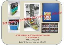 Autogrammkarten Album (3 verschiedene Systeme zur Wahl) Sammelalbum AK