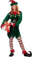 Unisex Santas Helper Elf Worker Holiday Outfit Merry Christmas Costume Adult Men