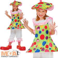 CIRCO CLOWN + CAPPELLO Ragazze Costume Halloween Carnevale Per Bambini Costume