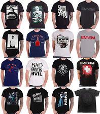 Official Eminem T Shirt Mens Slim Shady Marshall Mathers Arrest logo Mens
