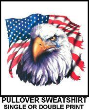 New listing Usa American Pride United States Eagle Tear In Eye Flag Pullover Sweatshirt 572