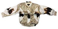 Kid's Metalic Silk Jacket Color White Bears Design(Chamarra de seda)