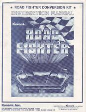 Konami Road Fighter Video Arcade Orig Game Manual 1984