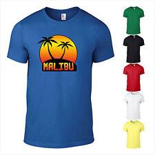 T-Shirt New Malibu Flower Power Fun Motivdruck Freizeit Spass Geschenk bedruckt