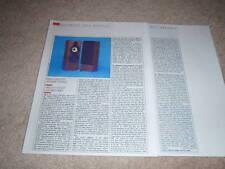 B&W DM2000 Speaker Review,1984, 2 pgs, Full Test