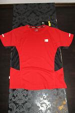 Karrimor Herren Run Lauf Shirt Rot Schwarz Größe M Neu mit Etikett