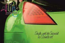 A 846 Single, weil die Auswahl so Sch...ist! Aufkleber Autoaufkleber DUB Sticker