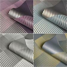 Geometric Stripes Yellow Teal Grey Purple Metallic Wallpaper Belgravia Decor