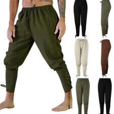 Renaissance Men Medieval Irish Peasant Pirate Costume Loose Viking Pant Trousers