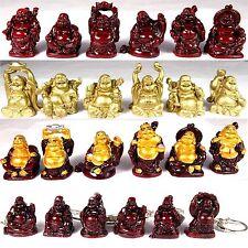 6 x Buddha - Figuren  Figur Happy Buddha Glücksbuddha Feng Shui Glücksbuddhas