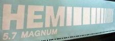 "Dodge Ram Truck, HEMI 5.7 MAGNUM, Vinyl Decal Sticker, 1 Set 18"" L X 3.48"" H"