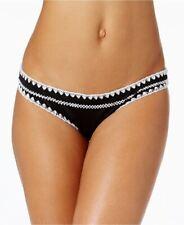 Bar III Stitches Hipster Bikini Bottom Black L