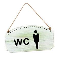 WOODEN WALL DOOR SIGNS NOTICE PLATE PLAQUE KITCHEN TOILETS WC WOMEN/MENS