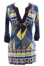 OLIAN Women's Multi Geometric Print Danniela Maternity Tunic O3707AD06 $94 NWT