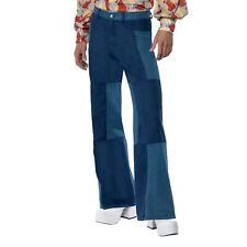 Adulti Da Uomo 70 S Groovy Hippy Patchwork razzi Svasato Pantaloni Costume