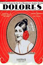 Vintage Star POSTER.Stylish Graphics.Dolores del Rio.Room Art Decor.608