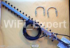 LMR CABLE + Yagi 18 ~ 20 dBi YAGI LONG RANGE Wireless Booster GET FREE INTERNET