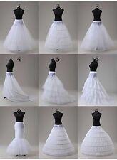 White A Line/Hoop/Hoopless/Fishtail Mermaid Crinoline Petticoat/Slips/Underskirt