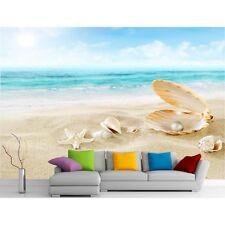 Adesivi murale gigante decocrazione : Conchiglia , sabbia e mare 11125