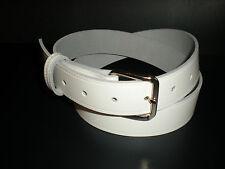 Blanco Cinturones De Cuero Apto para hombres y mujeres de pequeñas a Xx Grandes Tamaños