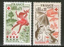 TIMBRES 1860-1861 NEUF XX LUXE  - CROIX ROUGE - LES SAISONS - PRINTEMPS AUTOMNE