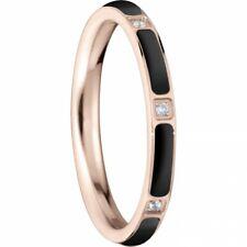 BERING Stack ring Stainless steel ceramic Link rosé/black slim Arctic Symphony C