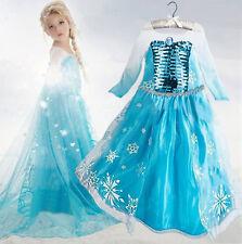 Niñas Frozen Anna Elsa Princesa Disfraces Niños Party Fancy vestido BC230
