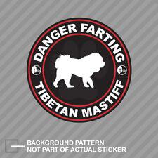 Danger Farting Tibetan Mastiff Sticker Decal Vinyl dog canine pet