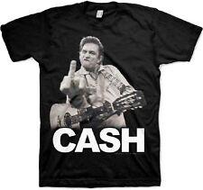 Johnny Cash The Bird San Quentin Middle Finger Rock Guitar T Tee Shirt JMC-1002
