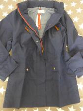 Sheego Jacket Parka Coat Size 40 To 58 Navy Blue Tone With Hood (011) (989)
