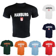 """Sonia Originelli T-Shirt Herren """"Hamburg Classic"""" Wappen Baumwolle Neu"""
