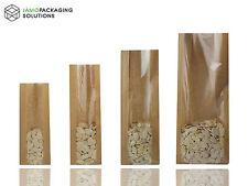 Kraft Marron Sacs en papier avec fenêtre joint chaleur pour restauration, Gâteaux, Fruits, pâtisserie