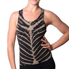 Kunst und Magie Damen Top Atmungsaktive Tie Dye Batik Yoga Top