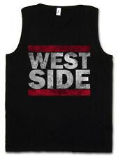 West Side Uomo Tank Top Run Fun SHIRT DMC East Coast USA United States nastro