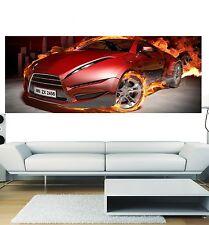 Papier peint panoramique voiture en feu 3648 Art déco Stickers
