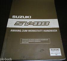Werkstatthandbuch Suzuki Baleno Anhang SY 418 Stand 03/1996