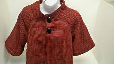 Keep It Trendy (K.I.T) Women's Jacket Red Black Plaid Size Large NEW !!!