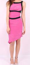 Ladies silk 1970's 1980's pink SKA two tone dress New Size 6 10 12 Fancy Dress