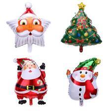 H3E# Santa Claus Snowman Christmas Tree Balloons Birthday Christmas Party Decor