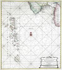 Reproduction carte ancienne - Les Maldives en 1753