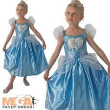 Loveheart Cinderella Girls Fancy Dress Disney Fairytale Kids Childrens Costume