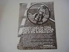 advertising Pubblicità 1976 MOTO HONDA 400 SUPER SPORT