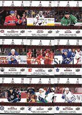 U PICK EM LOT 17-18 2017-18 Tim Hortons Game Day Action Set Cards #GDA1-15