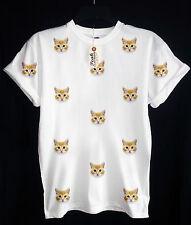 CAT PATTERN T-SHIRT - KAT Gattino Kitty-hipster-SWAG UNISEX-picco abbigliamento