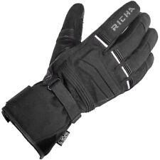 Richa Peak Textile Waterproof Motorcycle Motorbike Gloves - Black