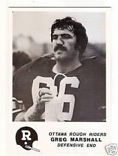 1981 Jogo CFL #4 Greg Marshall OTTAWA OREGON STATE