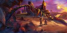 C3PO R2D2 Krayt Dragon Skeleton Jabba's Palace Star Wars Fine Art Giclée Canvas