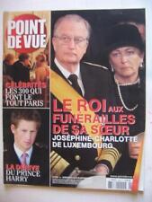 Point de vue du 19 janvier 2005 N° 2948 Le roi aux funé